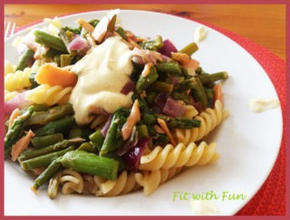 Fusilli Salmone e Asparagi con Panna al Curry Light