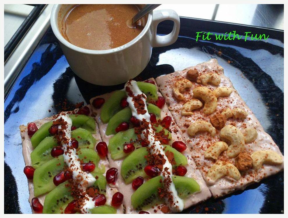 Wasa Yogurt Greco e Cannella con Kiwi - Anacardi