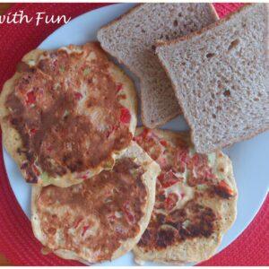 Pancake salati ai Peperoni e Feta