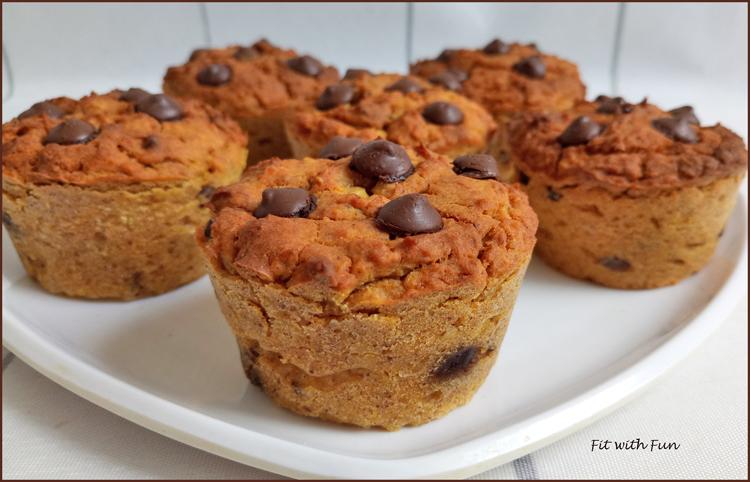 Muffin 4 ingredienti Zucca Ceci Avena e Burro di Arachidi