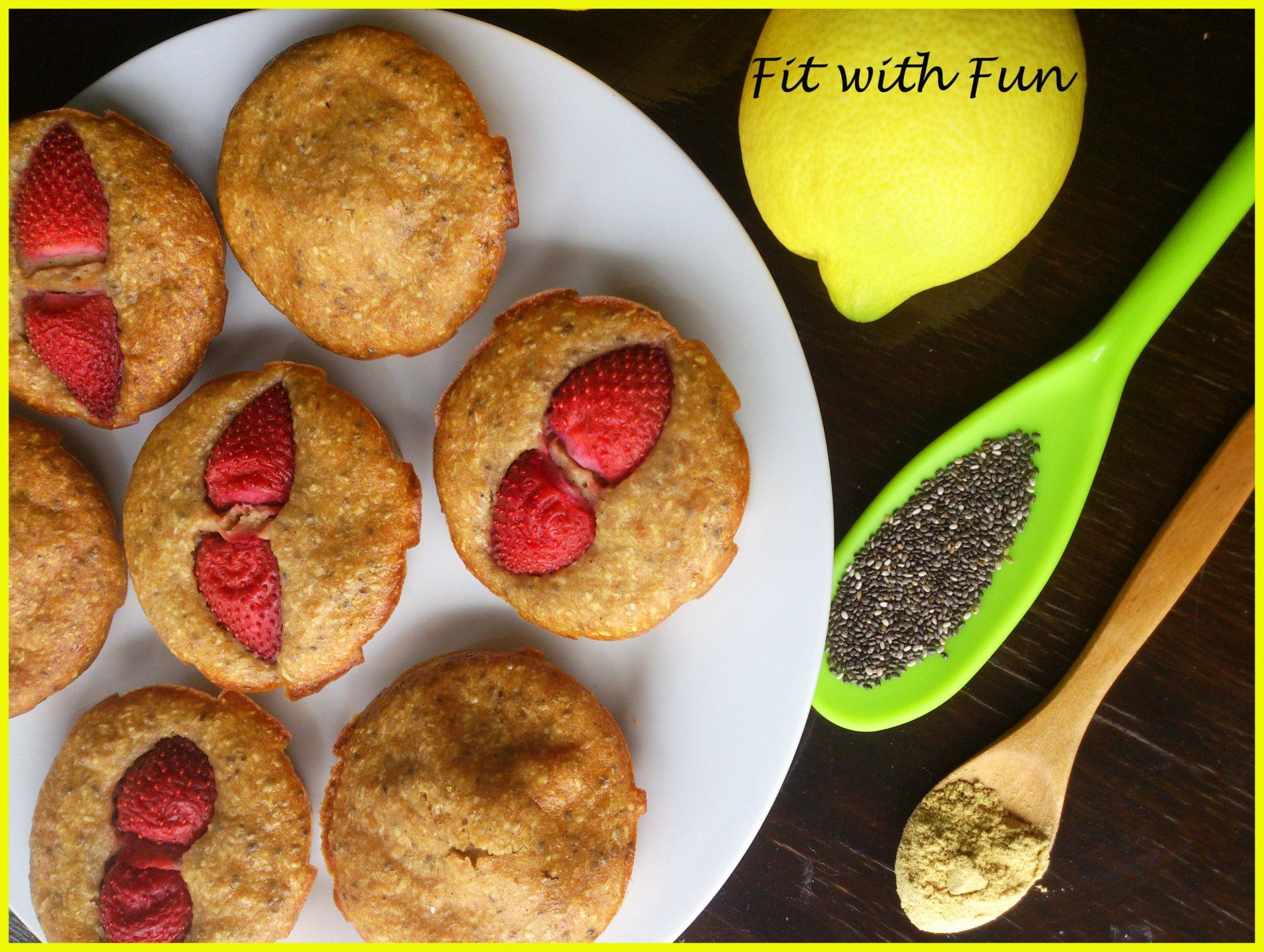 Muffin Fit al Limone Zenzero e Semi di Chia