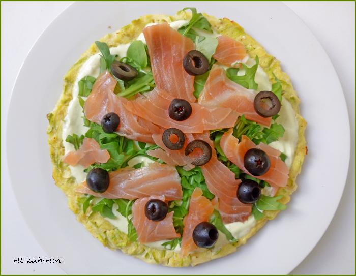 Pizza di Zucchine con Salmone e Panna al Curry e Zenzero