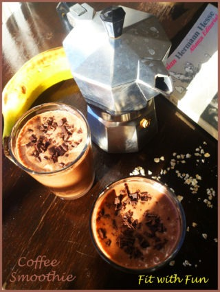 Smoothie al Caffè con Avena, Banana e Semi di Lino