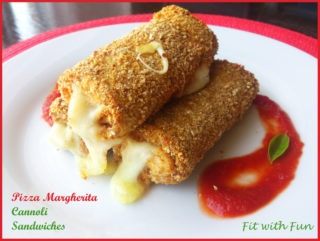 Cannoli di Sandwiches al gusto Pizza Margherita