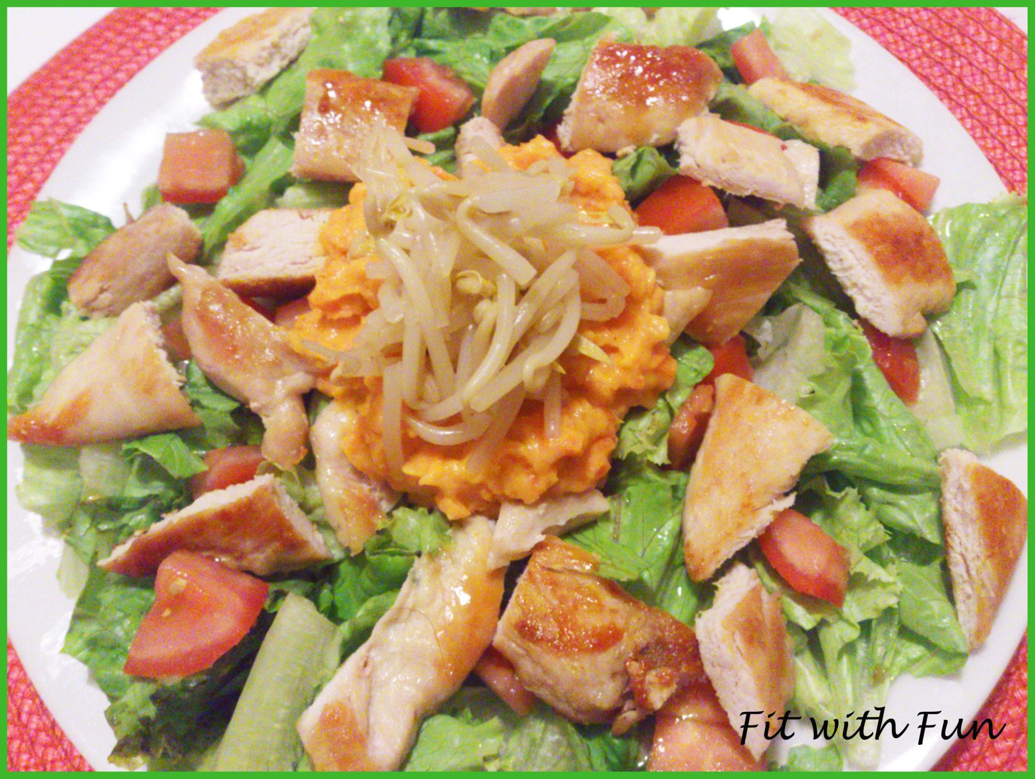 Insalata di Pollo con speciale Salsa al Curry