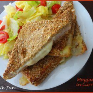 Mozzarella in Carrozza Light cotta al forno