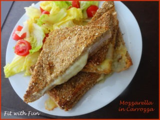 Mozzarella in Carrozza Light cotta al forno
