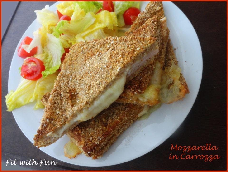 Mozzarella in carrozza light cotta al forno for Ricette mozzarella in carrozza al forno