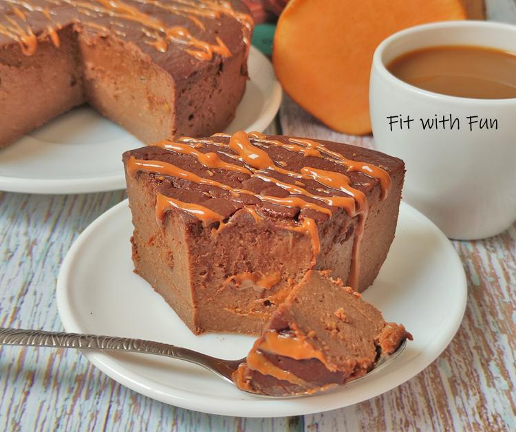 Torta Brownie Patate Dolci e Cacao con Burro di Arachidi