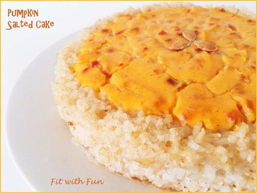 Torta Salata con base di Riso ripiena di Crema di Zucca