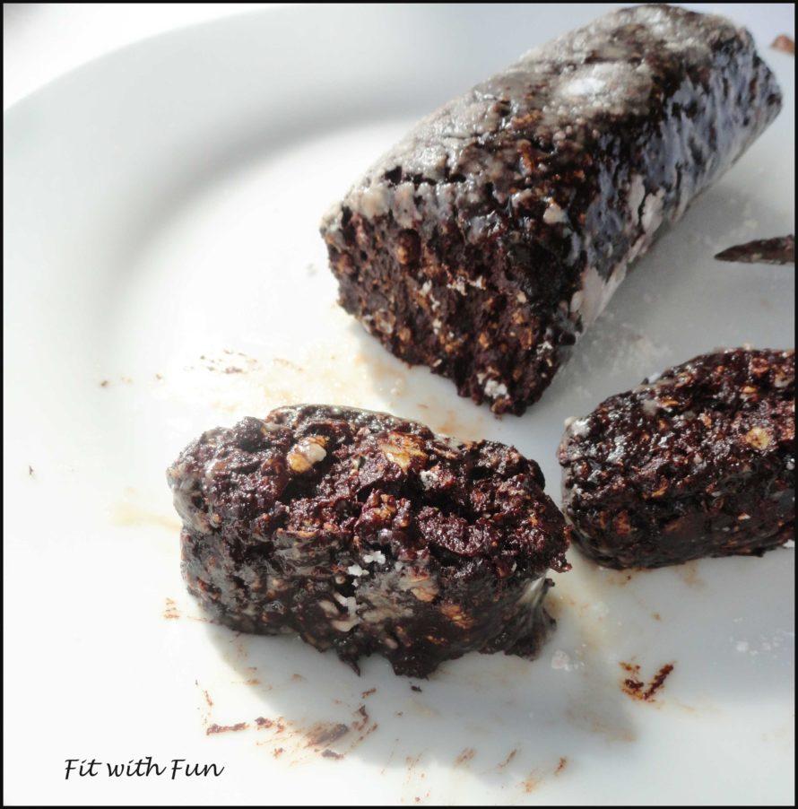 Salame di Cioccolato Fit Proteico Vegan e Gluten Free