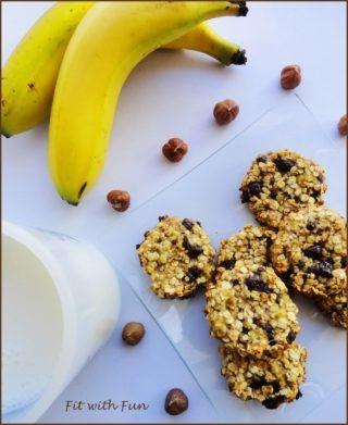 Biscotti Cookie Avena Banana e Cioccolato di Erika Lombardi