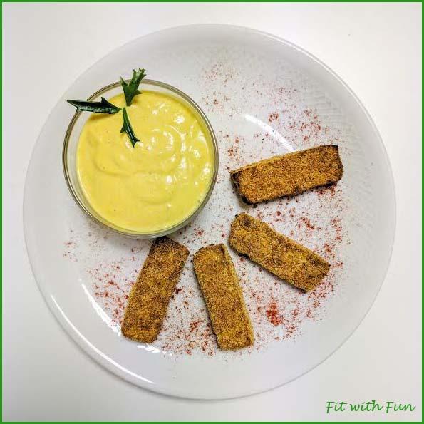 Fingers Tofu alla Paprika con Maionese Vegan alla Curcuma e Curry
