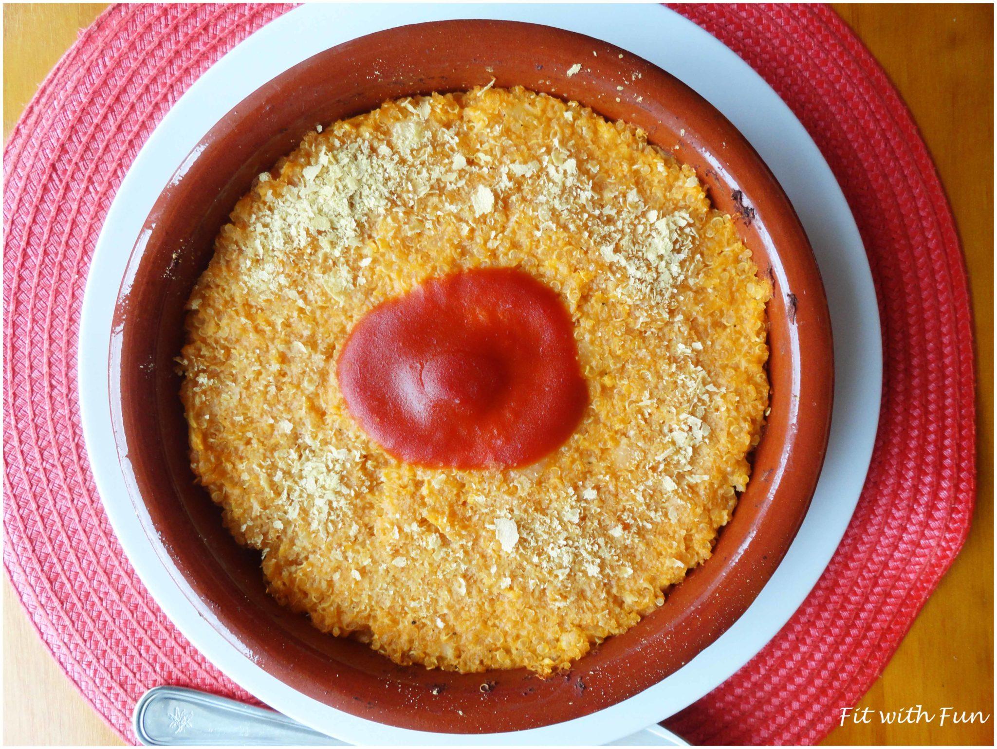 Quinoa al Tegamino con Crema di Cavolfiore e Pomodoro