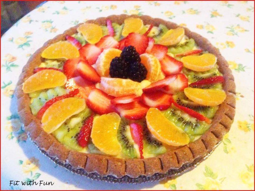 Crostata Light alla Vaniglia con Crema Proteica e Frutta