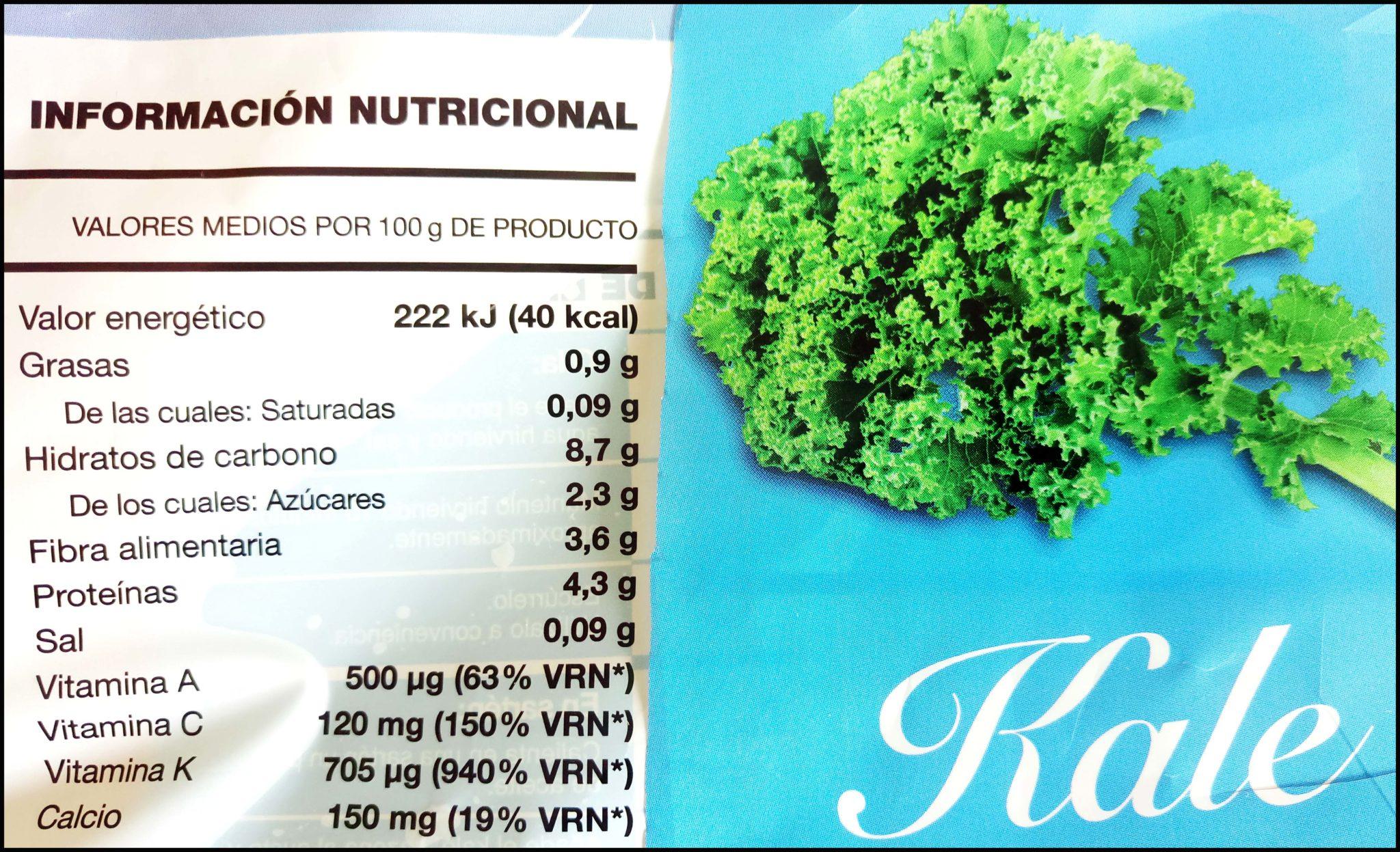 Valori Nutrizionali Cavolo Nero Kale