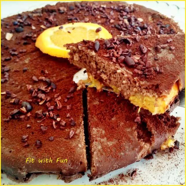 Torta Proteica di Avena Con Arance e Cacao