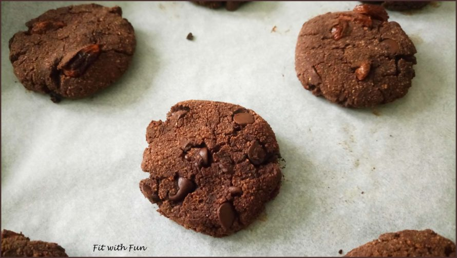 Biscotti Cookies Double Chocolate al Cocco e Burro di Arachidi