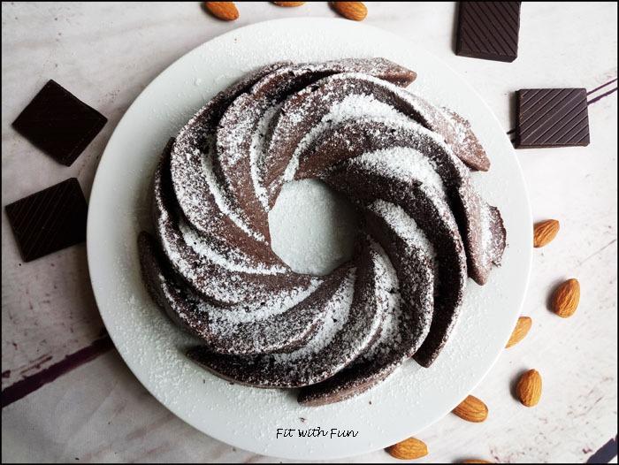 Torta Caprese Fit e Gluten Free alle Mandorle e Cioccolato