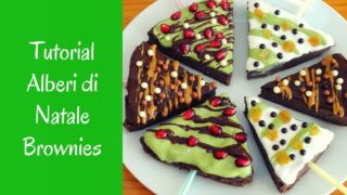 Alberi di Natale Fit Brownies con Video Tutorial