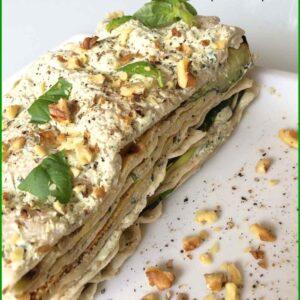 Lasagne Veloci e Light con Pane Carasau e Crema di Verdure