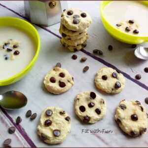 Biscotti Cookies 4 Ingredienti con Cioccolato e Senza Glutine