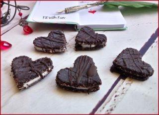 Biscotti Ripieni Vegan e Senza Cottura al Cacao e Avena