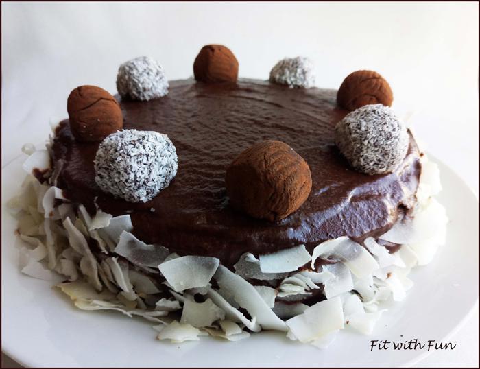 Maxi Torta Bounty Cocco e Cioccolato Proteica e Senza Glutine