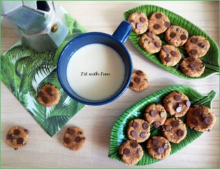 Biscotti Cookies Facili e Light al Caffè Arachidi e Cocco