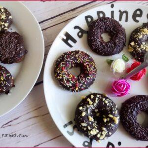 Ciambelle e Muffin Senza Glutine ricoperti di Cioccolato Fondente