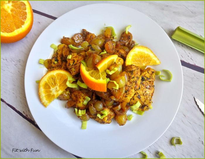 Pollo Speziato e Aromatizzato in Agrodolce di Arancia e Miele