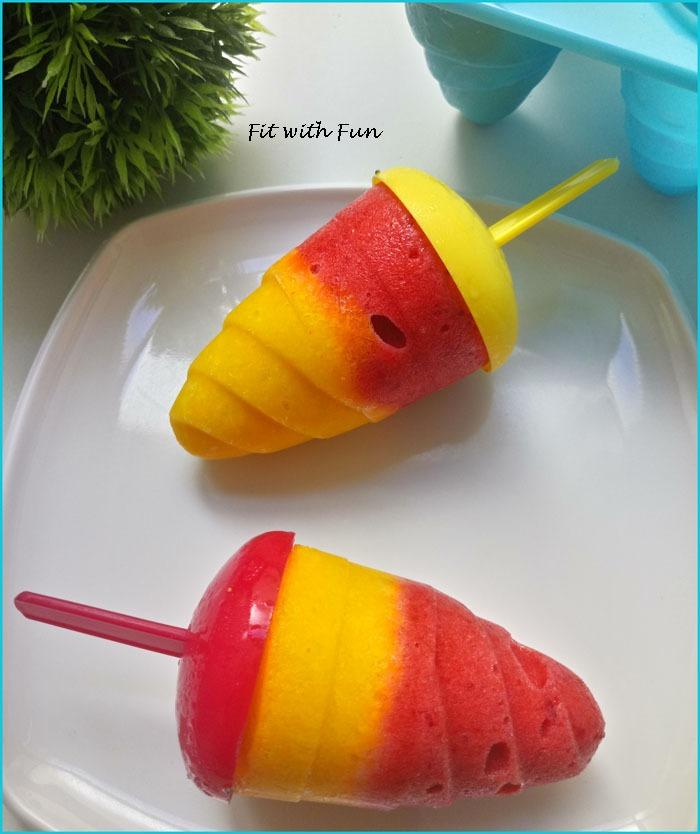 Ghiaccioli alla Frutta Senza Zucchero