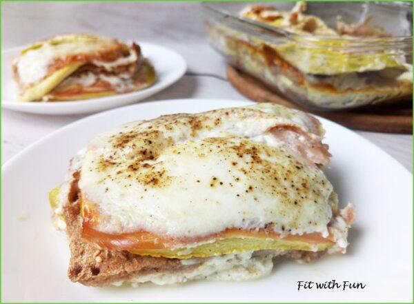 Wasagna con Panna Fit Zucchine e ProsciuttoWasagna con Panna Fit Zucchine e Prosciutto