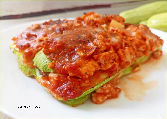 Lasagna di Zucchine con Ragù di Pollo Low Carb