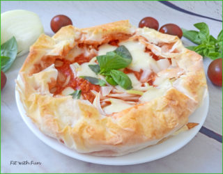 Pizza di Pasta Fillo con Cornicione Ripieno Light e Veloce