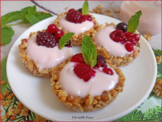 Muesli Tarts Tartellette alla Frutta Senza Cottura
