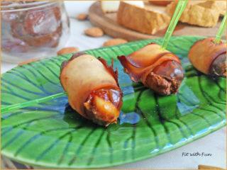 Tapas Spagnole Involtini di Bacon e Datteri Ripieni