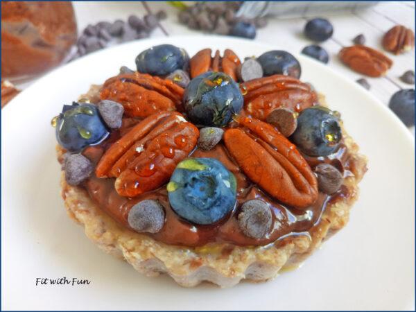 Crostatina Senza Cottura Cioccolato e Noci Pecan