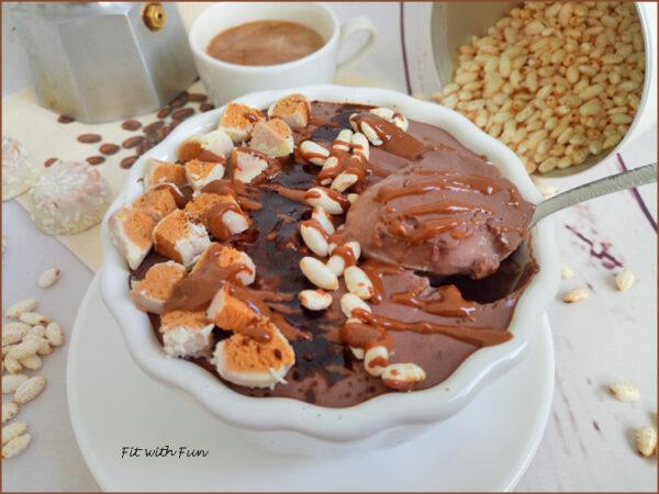 Mousse al Caffè Vegan Proteica Senza Glutine