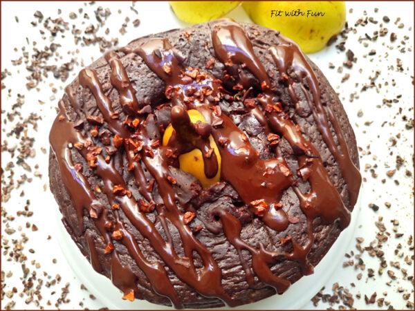 Torta Ricotta Pere e Cioccolato Light