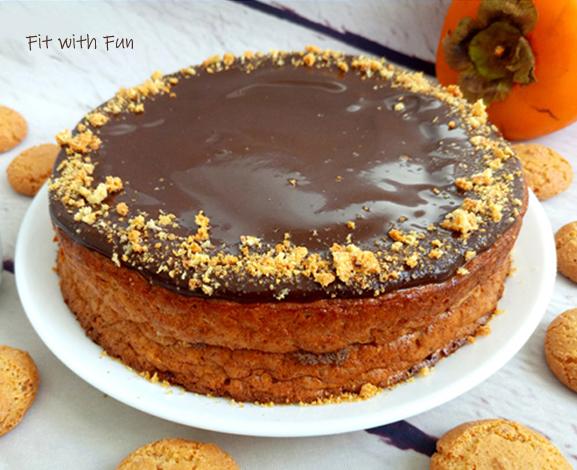 Torta Glassata di Cachi e Amaretti Proteica