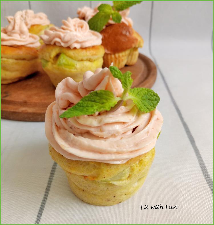 Muffin Polenta e Zucchine con Mousse di Salmone