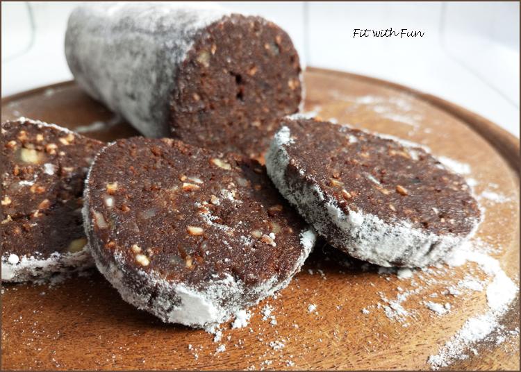 Salame di Cioccolato Con Cacao e Senza Cottura