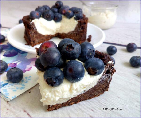 Cheesecake Cacao Fiocchi di Latte e Mirtilli