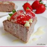 Torta Proteica Ricotta e Marmellata di Fragole