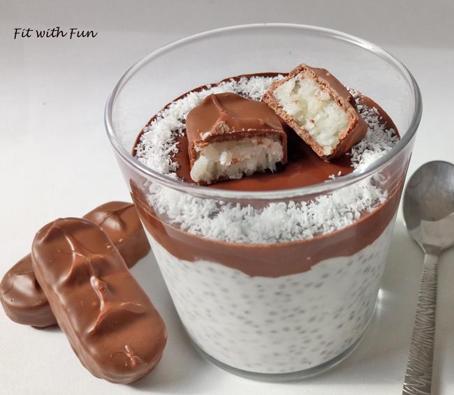 Bounty Chia Pudding Proteico e Low Carb