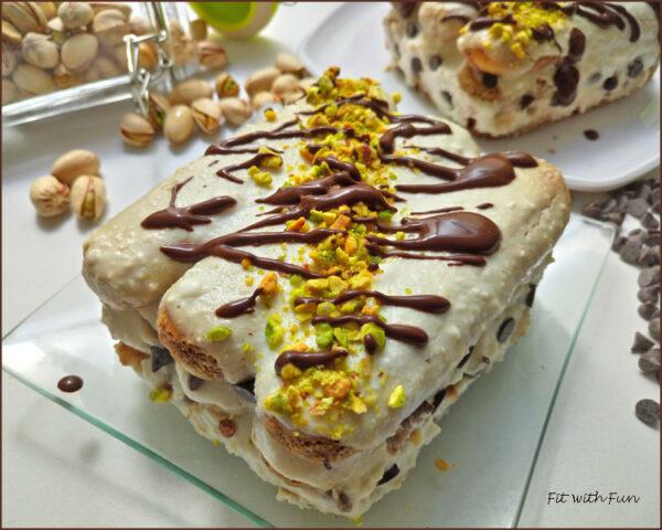 Cannolo Tiramisù Light con Cioccolato e Pistacchi