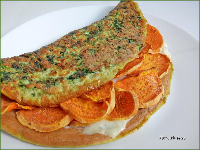 Omelette di Spinaci Light e Ripiena