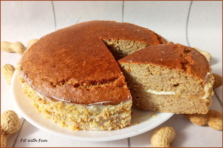 Torta Fit e Proteica Tripudio di Arachidi