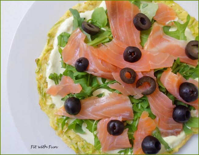 Pizza di Zucchine con Salmone